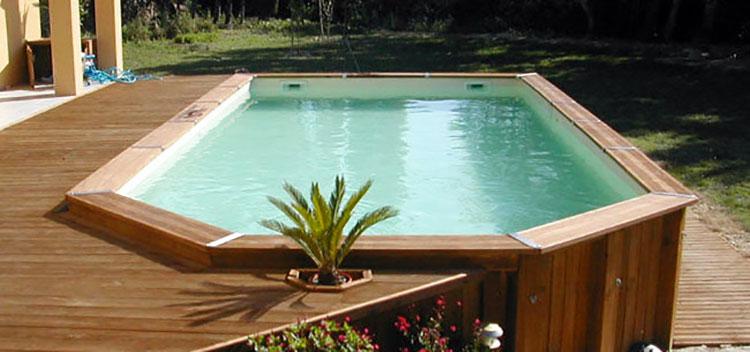Modello di piscina fuori terra in legno n.08