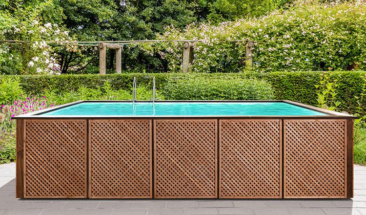 Modello di piscina fuori terra in legno n.09