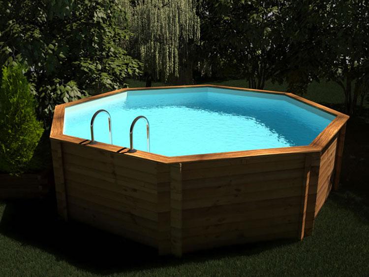 Modello di piscina fuori terra in legno n.13