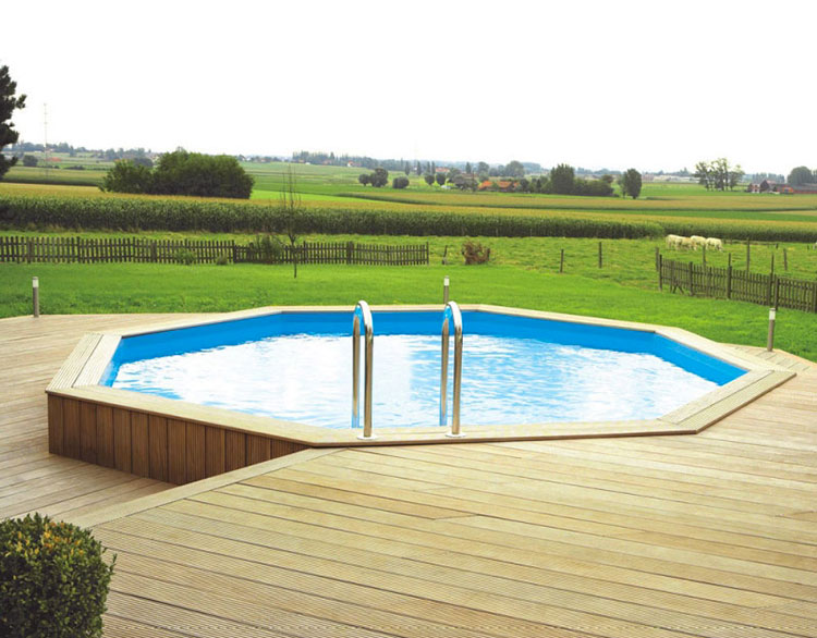 Modello di piscina fuori terra in legno n.16