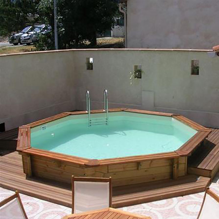 Modello di piscina fuori terra in legno n.18