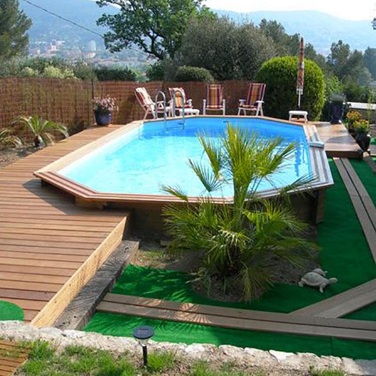 Modello di piscina fuori terra in legno n.19