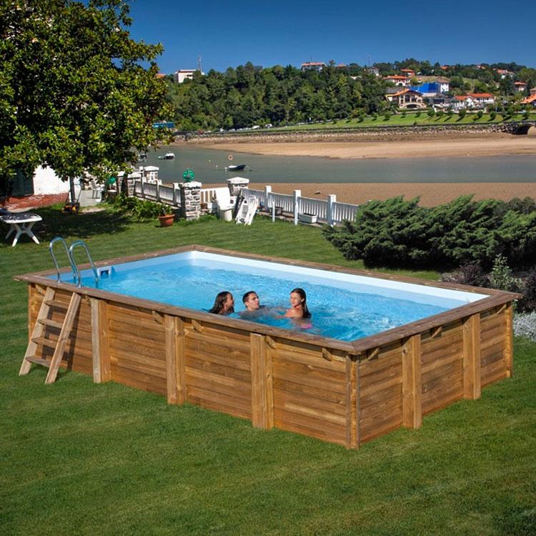 Modello di piscina fuori terra in legno n.20