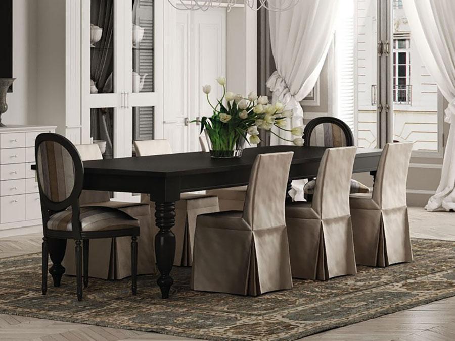 Trendy arredamento per sala da pranzo classica n with - Tende per sala da pranzo ...