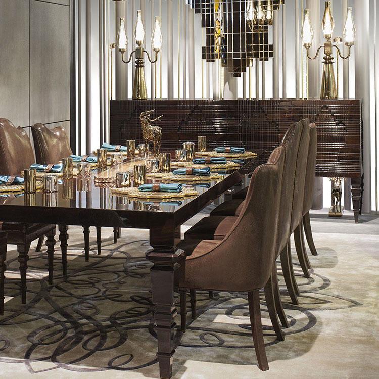 Sala da pranzo classica 25 idee per arredare con gusto - Tende per sala da pranzo ...