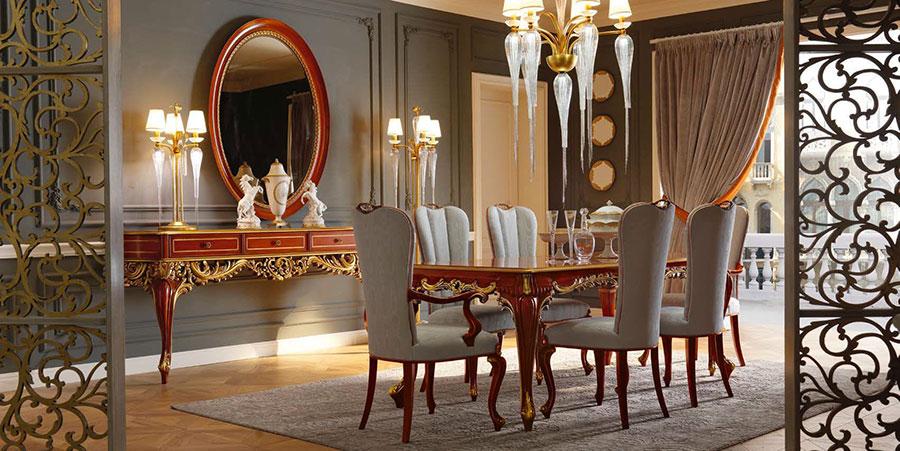 Beautiful Sala Pranzo Classica Contemporary - Idee Arredamento Casa ...