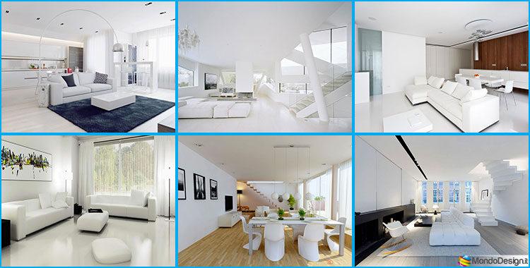 Idee per arredare un soggiorno bianco dal design moderno for Idee soggiorni moderni