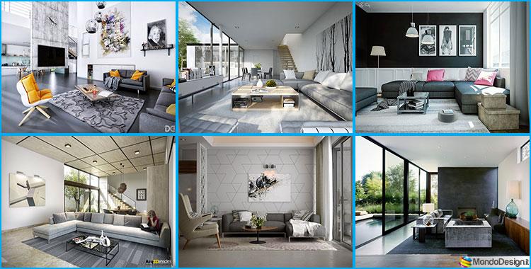 Soggiorno grigio 25 idee di arredo dal design moderno - Idee arredamento soggiorno moderno ...