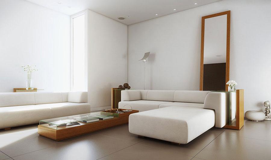 Idee per arredare un soggiorno bianco dal design moderno n.02