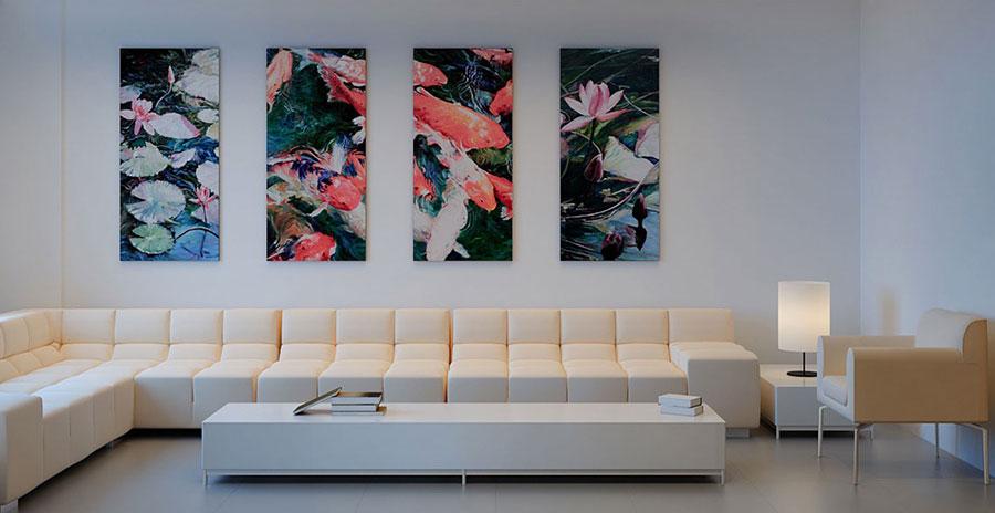 Idee per arredare un soggiorno bianco dal design moderno n.04