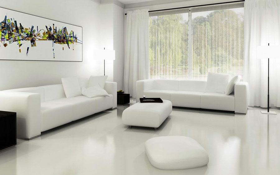 Idee per arredare un soggiorno bianco dal design moderno n.10