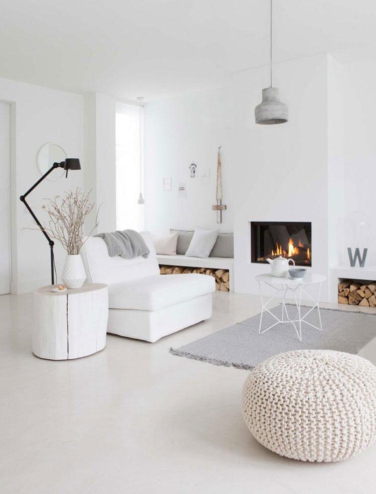 Idee per arredare un soggiorno bianco dal design moderno n.13