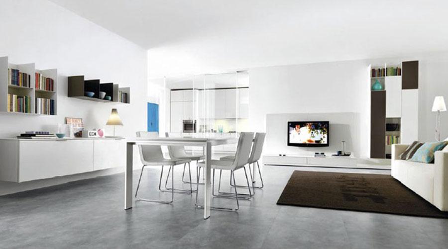 Idee per arredare un soggiorno bianco dal design moderno n.14