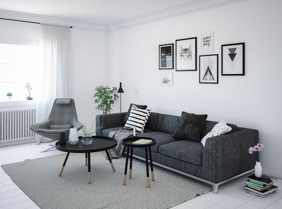 Idee per arredare un soggiorno bianco e grigio n.05