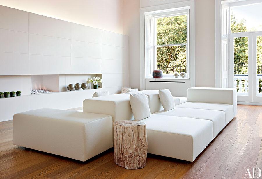 Idee per arredare un soggiorno bianco moderno 02