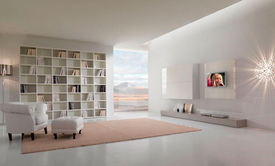 Idee per arredare un soggiorno bianco moderno 04