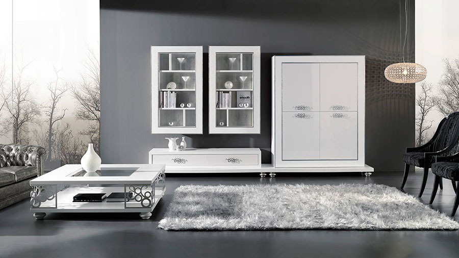 Idee per arredare un soggiorno classico bianco n.01