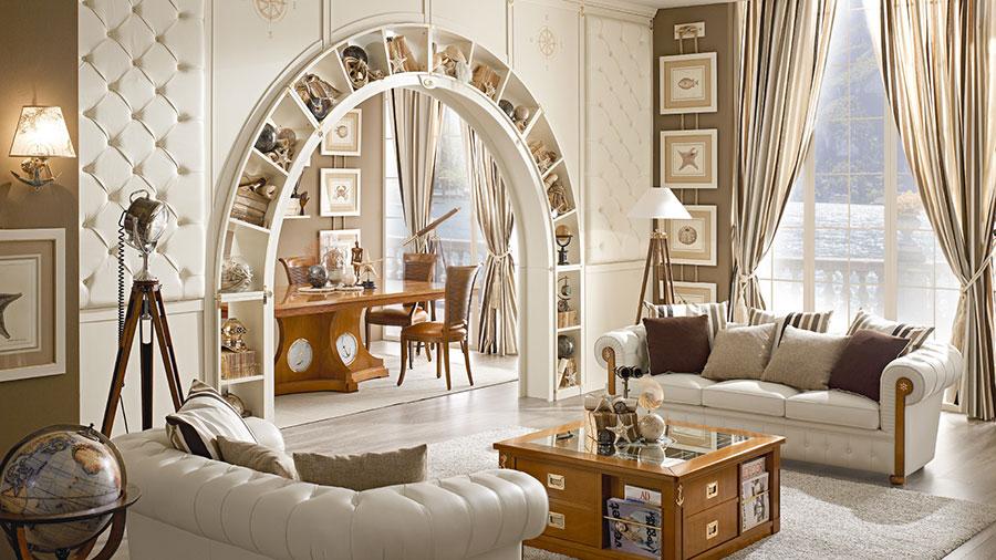 Idee per arredare un soggiorno classico bianco n.03
