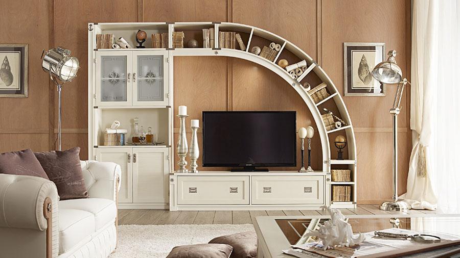 Idee per arredare un soggiorno classico bianco n.04