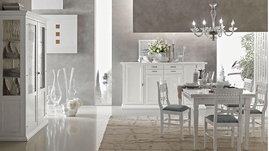 Idee per arredare un soggiorno classico bianco n.05
