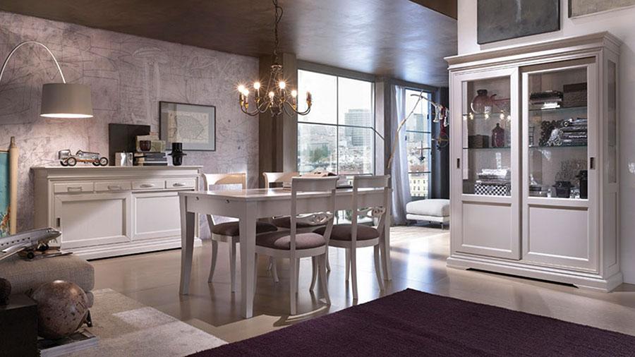 Idee per arredare un soggiorno classico bianco n.06