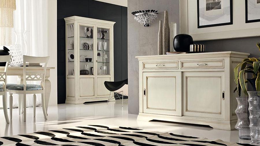 Idee per arredare un soggiorno classico bianco n.07