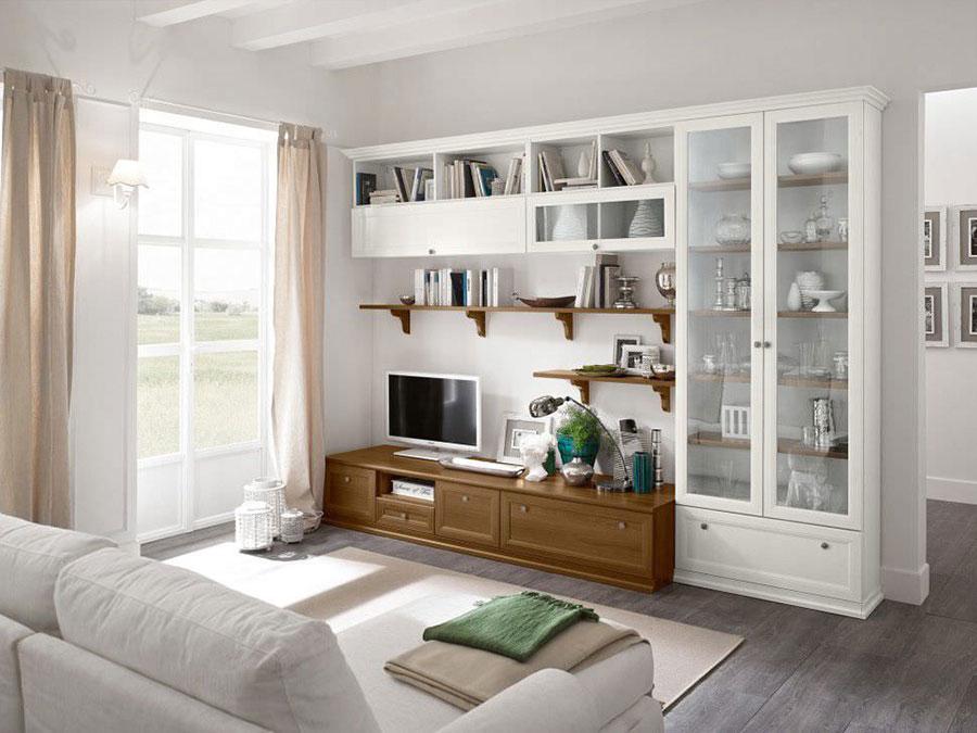 Soggiorno classico bianco 20 idee per arredare con classe - Mobili bassi per soggiorno ...