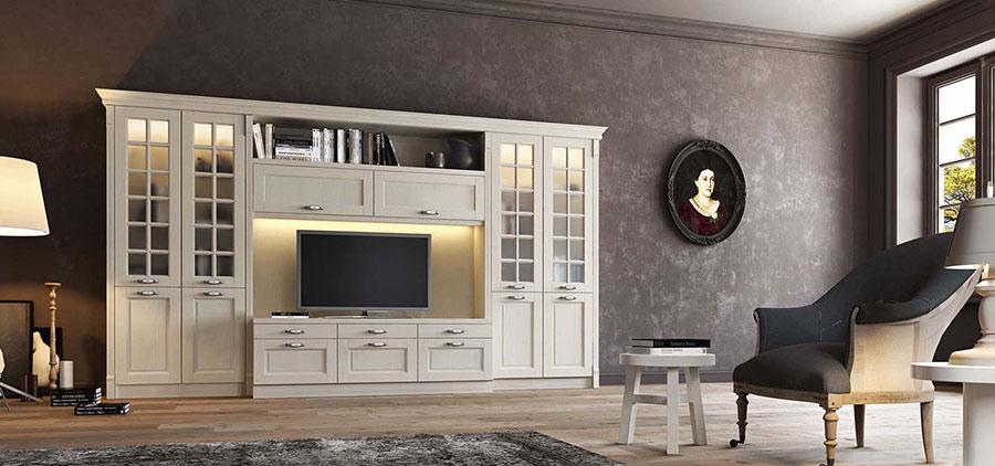Idee per arredare un soggiorno classico bianco n.11