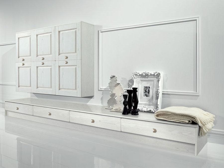 Idee per arredare un soggiorno bianco classico 02