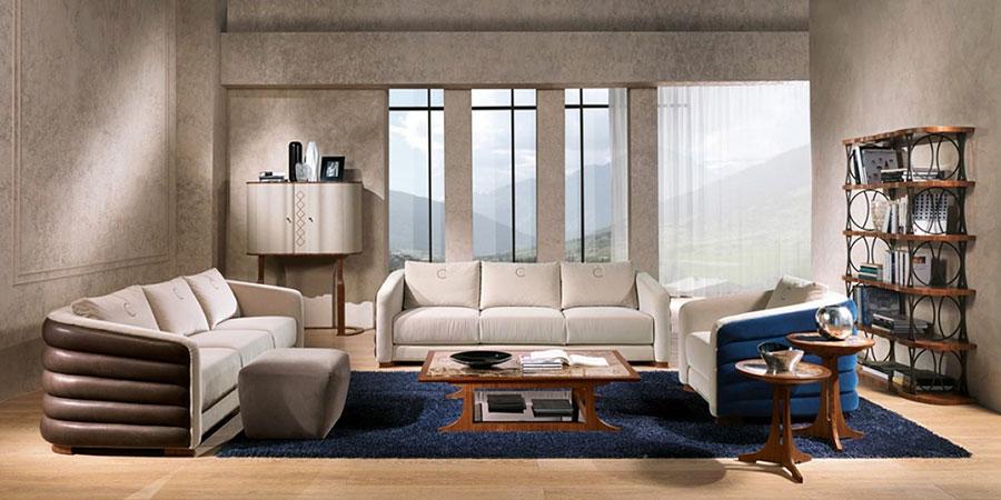 Idee per arredare un soggiorno classico bianco n.14