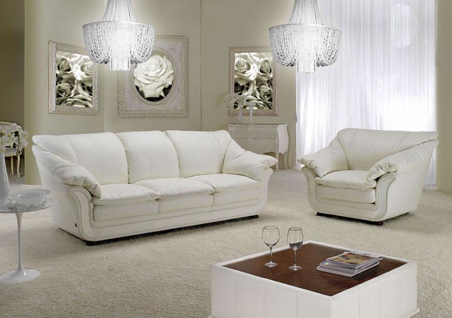 Idee per arredare un soggiorno bianco classico 03