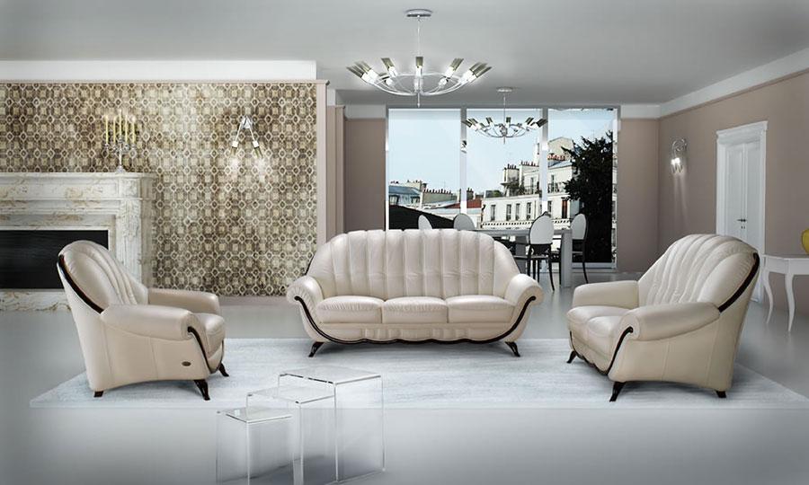 Idee per arredare un soggiorno classico bianco n.16