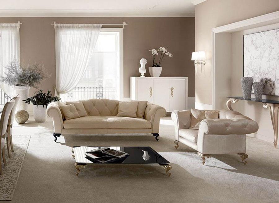 Idee per arredare un soggiorno classico bianco n.17