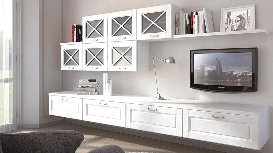 Idee per arredare un soggiorno classico moderno bianco n.03