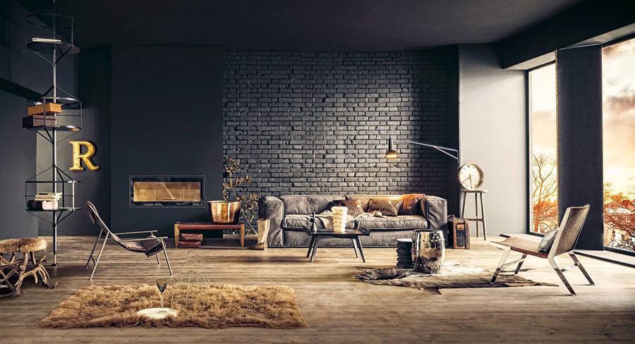 Idee per arredare un soggiorno grigio dal design moderno n.01
