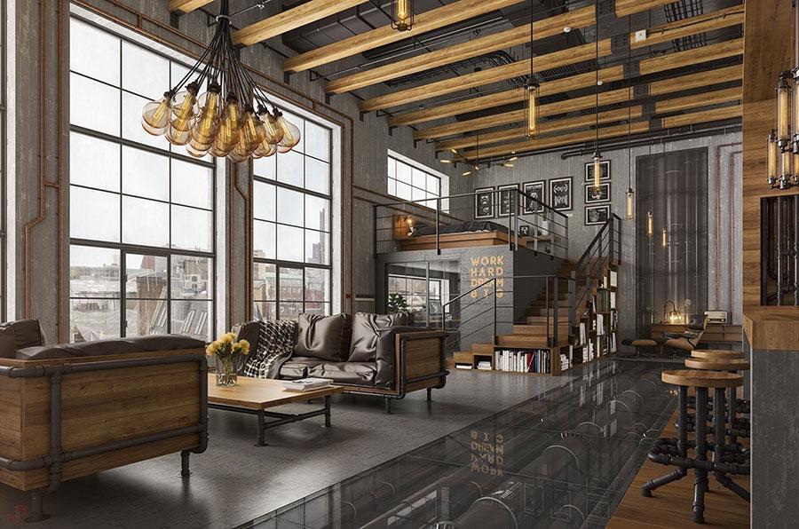 Idee per arredare un soggiorno grigio dal design moderno n.03
