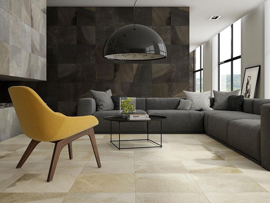 Idee per arredare un soggiorno grigio dal design moderno n.09