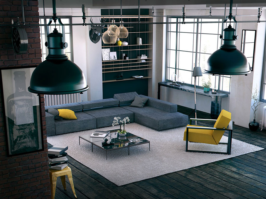 Idee per arredare un soggiorno grigio dal design moderno n.11