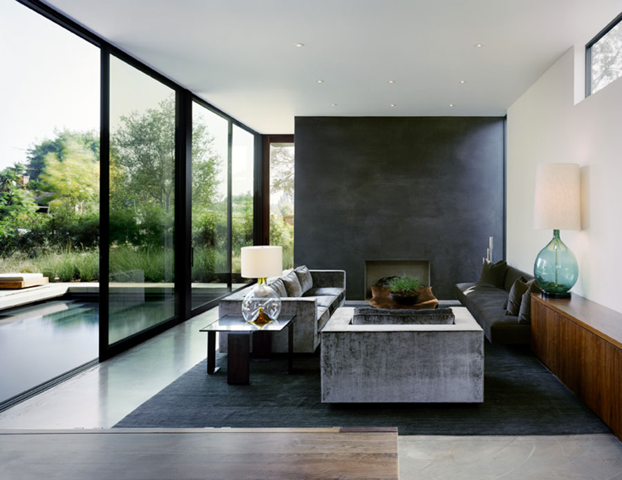 Idee per arredare un soggiorno grigio dal design moderno n.12