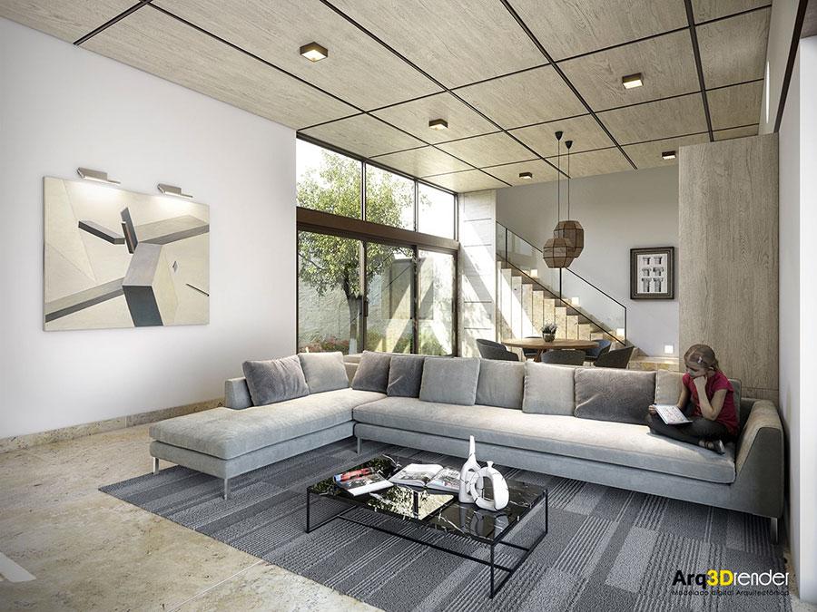 Idee per arredare un soggiorno grigio dal design moderno n.13