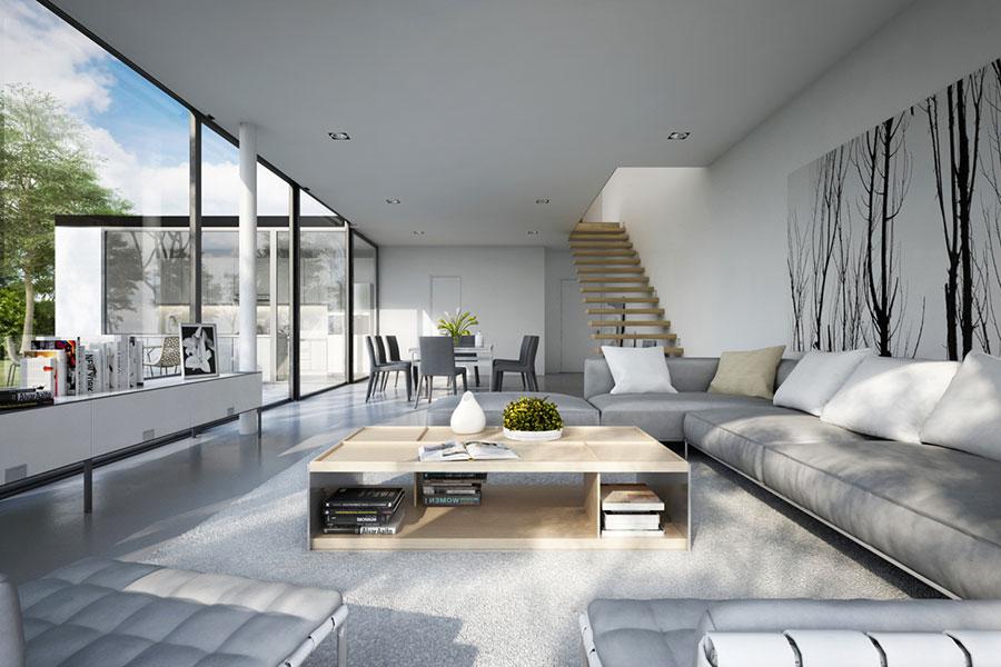 Idee per arredare un soggiorno grigio dal design moderno n.14