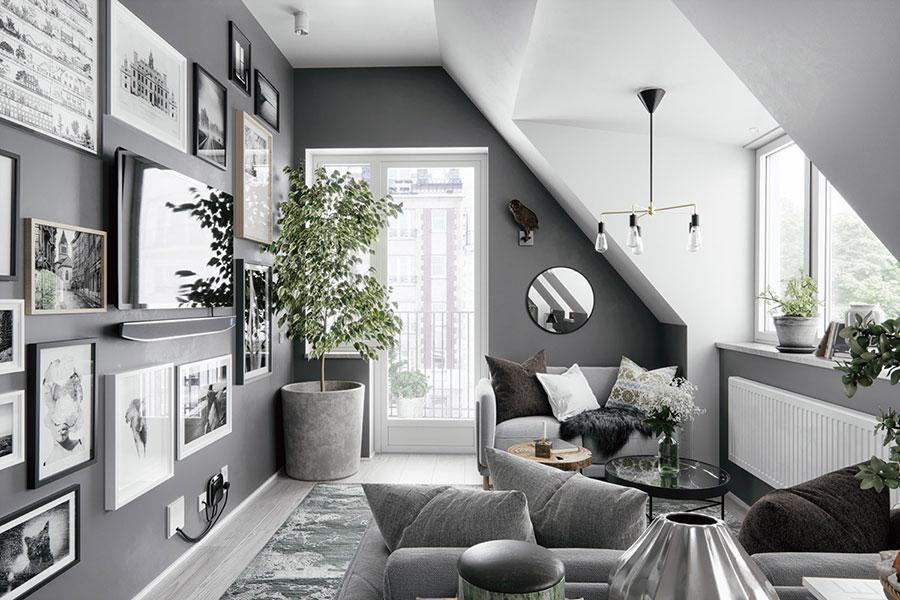 Idee per arredare il soggiorno grigio e bianco n.02