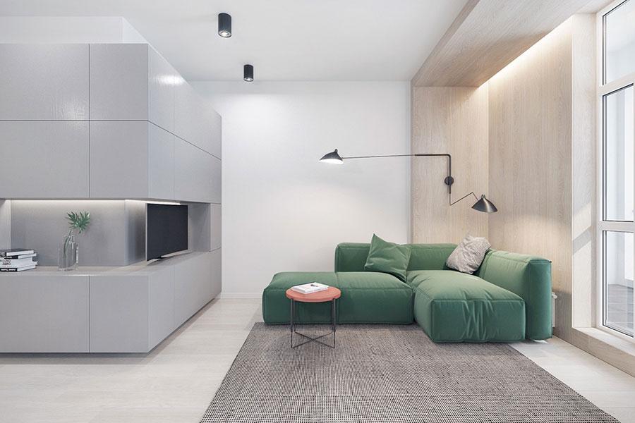 Idee di arredamento per un soggiorno minimal n.01