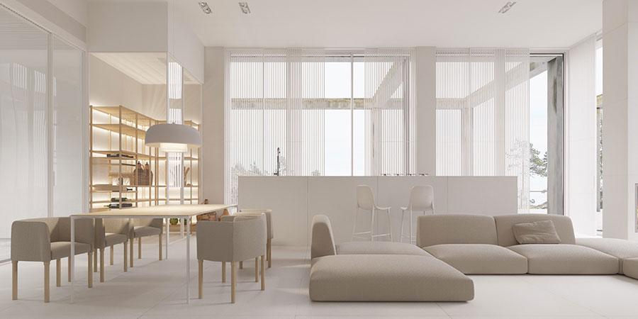 Idee di arredamento per un soggiorno minimal n.03