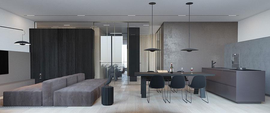 Idee di arredamento per un soggiorno minimal n.04