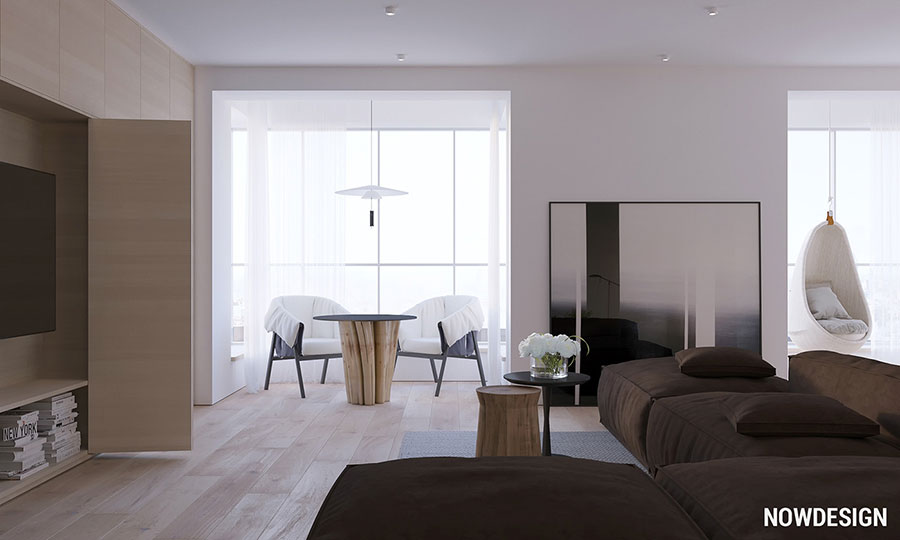 Idee di arredamento per un soggiorno minimal n.05