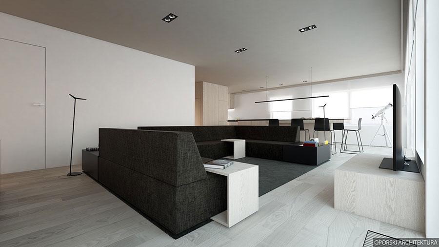 Idee di arredamento per un soggiorno minimal n.06