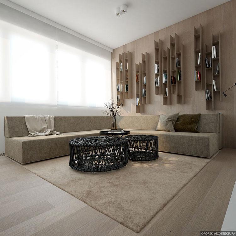 Idee di arredamento per un soggiorno minimal n.07