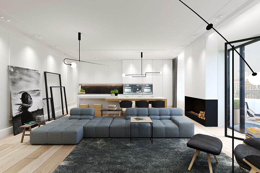 Idee di arredamento per un soggiorno minimal n.08