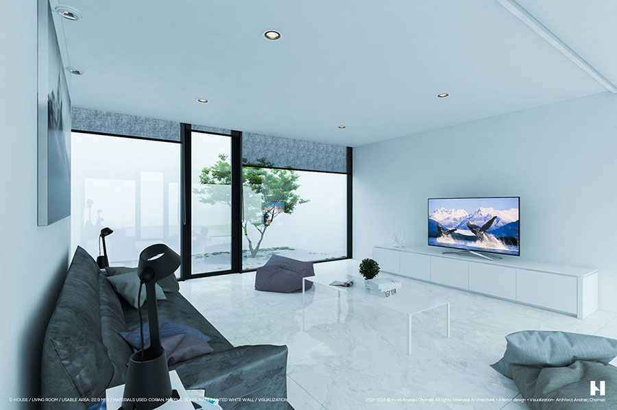 Idee di arredamento per un soggiorno minimal n.12